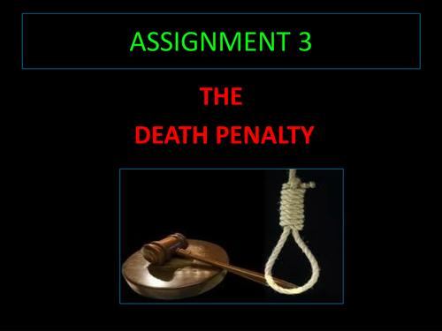 The Death Penalty, iGCSE Cambridge Lang Assign 3