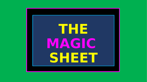 The Magic Sheet – Useful Words and Phrases