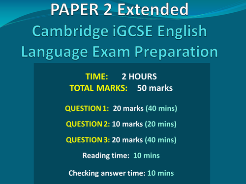 igcse english as a second language model essays Igcse english as a second language better english language reading and writing skills that are useful in all subjects.