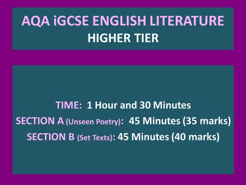 igcse english literature past papers 2012