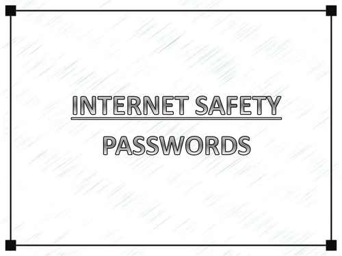 Choosing a secure password - starter activity
