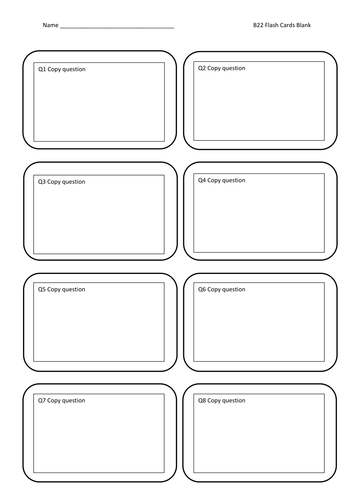 Flash Cards Blank By Jamesbradyuk Teaching Resources Tes