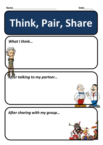Assessment for learning - Think, Pair, Share