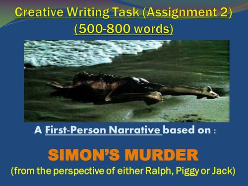 'Lord of the Flies'  - Creative Writing (Simon's Murder)