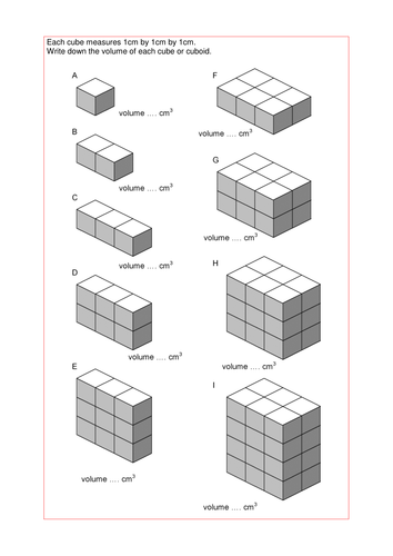 Maths KS2 KS3 KS4 Foundation: Volume of cuboids, with a