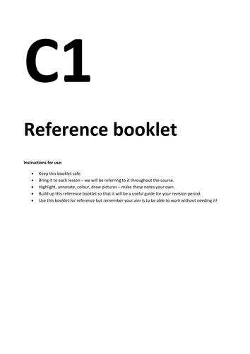 C1 reference booklet