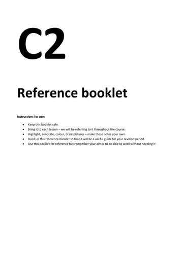 C2 Reference booklet