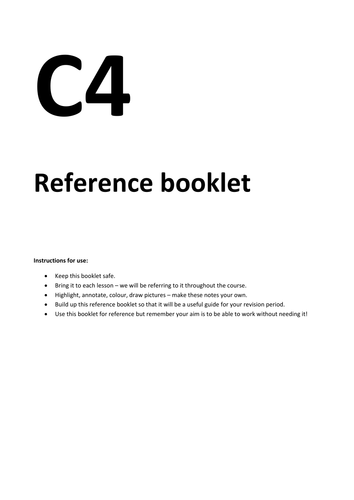 C4 Reference booklet