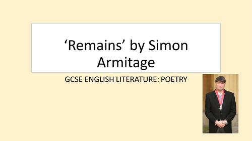 AQA GCSE English Literature: Remains by Simon Armitage