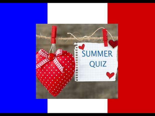 End of Year 7 French Quiz