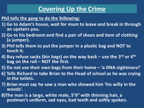 'DNA' - Covering up the Crime
