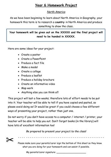 North America homework project