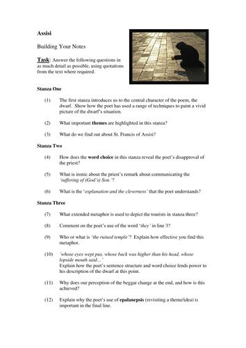 Norman MacCaig 6 Poems National 5 Unit