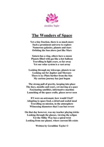 The Wonders of Space Poem