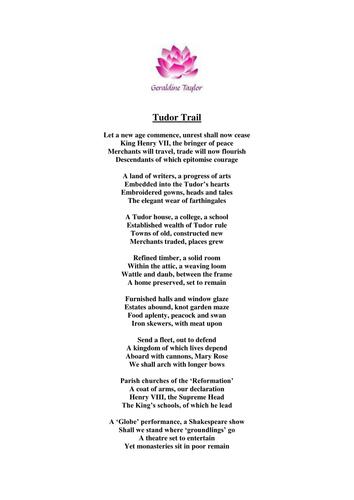 Tudor Trail Poem