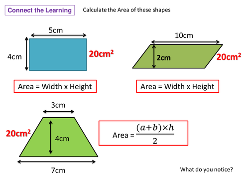 Areas of Triangles and Compound Shapes by Nuoba | Teaching Resources