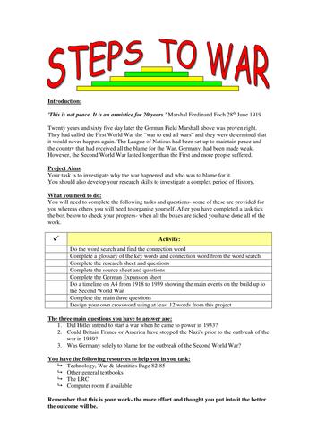 Inter War Years Handouts: Various
