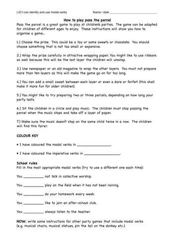Modal verbs in instructions