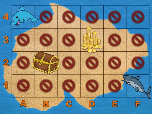 Treasure Map PPT game (co-ordinates starter)