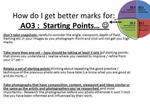 Photography Resource: Taking effective Starting Points