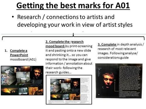 Photography Teaching Resource: Get best marks for Research and Development