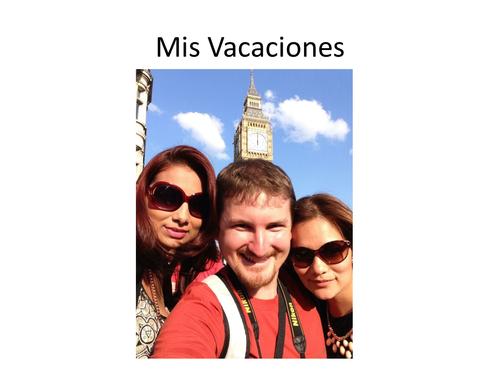 Dictado las vacaciones / Running dictation Holidays