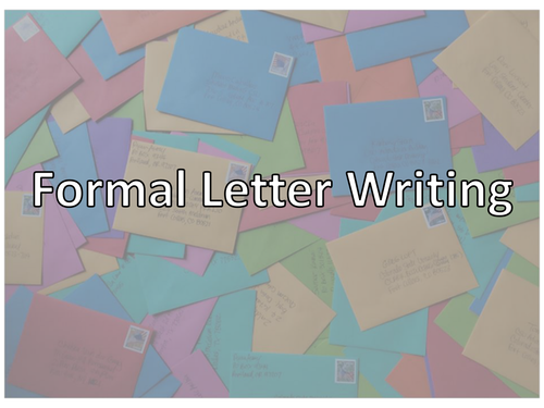 Formal Letter Writing - English Functional Skills