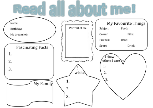 about me template for students - all about me transition poster by chazabell01 teaching