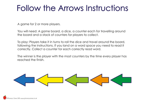 Phonics Game 'Follow the Arrows'
