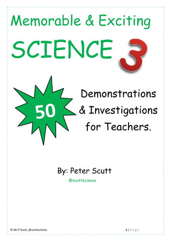 Book 3 - 50 more exciting and memorable investigations and demonstrations