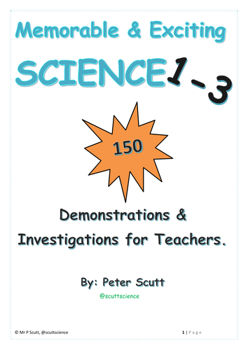 Book 1-3: Memorable and Engaging Demonstrations and Investigations for Science Teachers