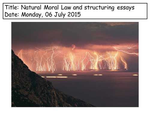 Natural Moral law- key features lesson