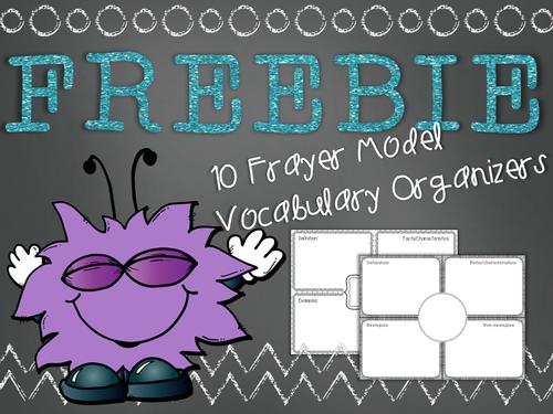 Frayer Model Vocabulary Organizer Printables FREEBIE