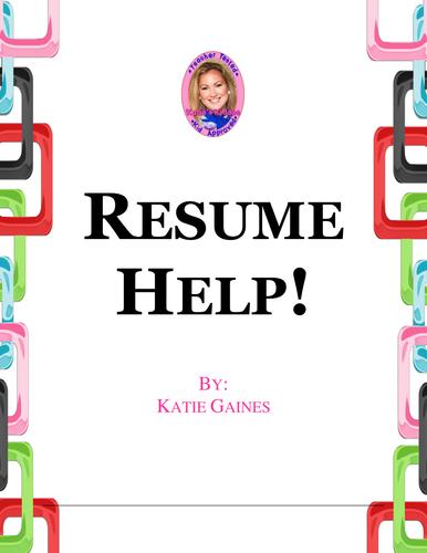 Resume help! *TOP SELLER*