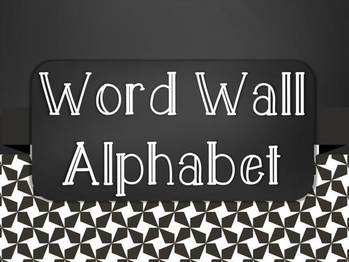 Chalkboard Word Wall Alphabet Heading Set - Black Star