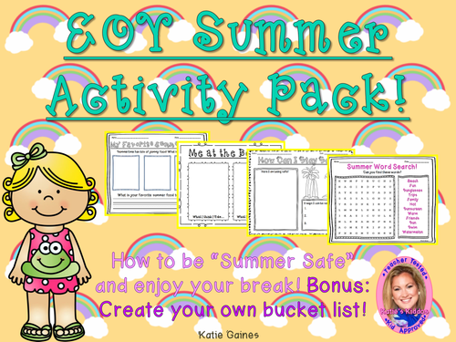End of Year/ Summer Activity Pack!
