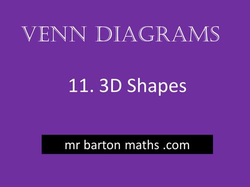 Venn Diagrams 11 3d Shapes By Mrbartonmaths Teaching Resources Tes