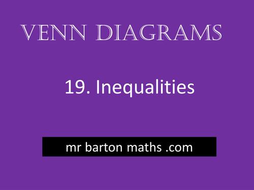 Venn Diagrams 19 - Inequalities
