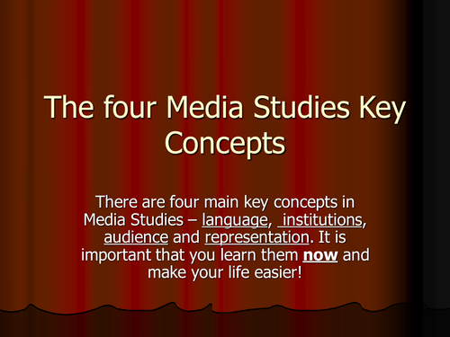 Key Concepts in Media Studies