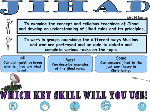Jihad Vs Terrorism : Group work lesson with  assessment questions