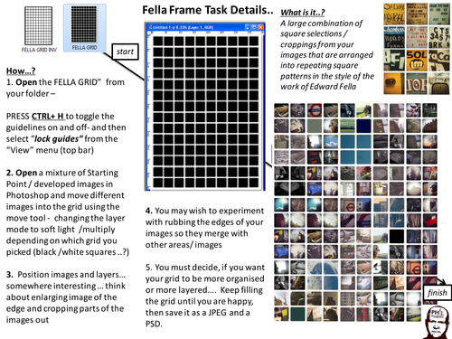 A-Level Photography:Photoshop Task: Fella Grids