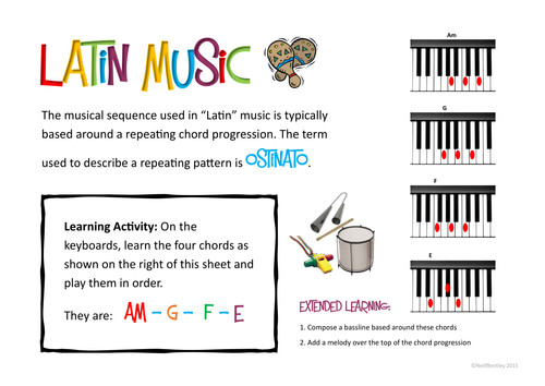 Latin Music Chord Sequence - Composition Guide