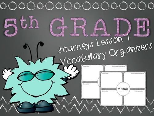 Journeys 5th Grade Unit 1 Lesson 1 Vocabulary Frayer Graphic Organizer