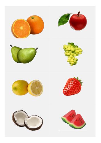 Flashcards Spanish las frutas / fruits