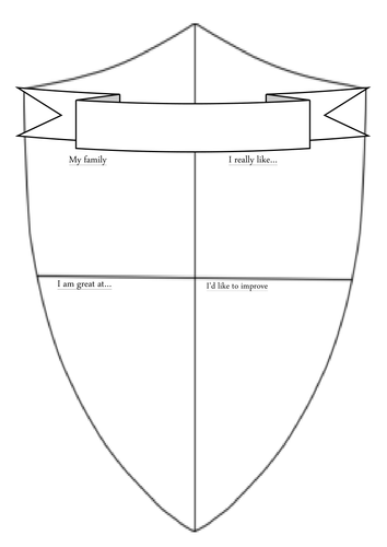 Transition shield template by tim caird teaching for Shield template to print