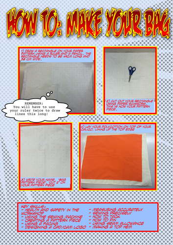 How to Make a Shopper Bag Step by Step (Cartoon style)