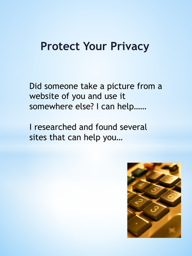 Internet Safety/Protect Your Information