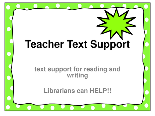 Librarian Text Sets K-5