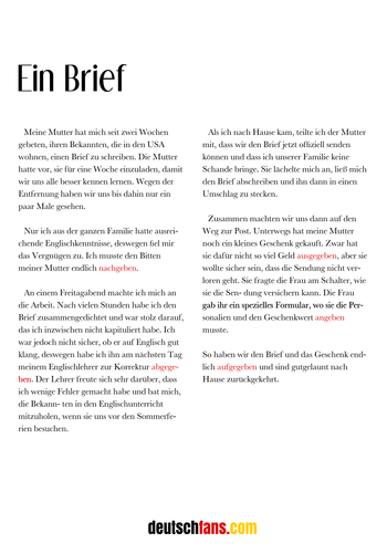 Aufsätze (Deutsch)