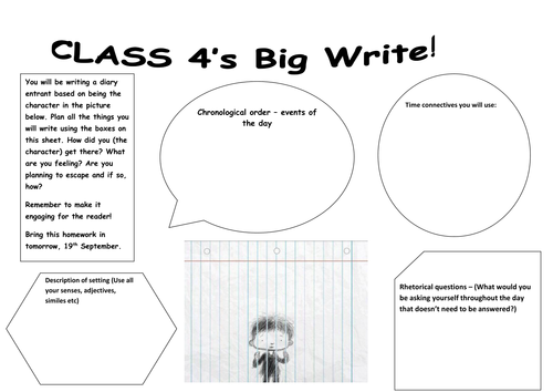 Big write prompt talk sheets by alarter teaching resources tes pronofoot35fo Image collections